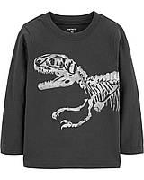 Серый лонгслив Динозавр Картерс для мальчика