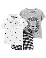 Детский летний костюм - шорты, футболка, поло Картерс для мальчика