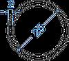 Алюмінієва труба кругла ø 25x2 мм без покриття. Порізка в розмір.