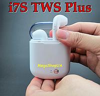 Беспроводные Bluetooth наушники AirPods TWS i7S Plus. AirPods с кейсом для зарядки Box TWS i7S