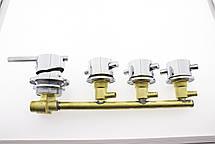 Смеситель для душевой кабины, на четыре узла для параллельного включения, фото 2