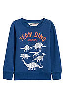 Детский пуловер на флисе в Динозавры H&M для мальчика