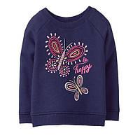 Детский синий пуловер в бабочки Gymboree для девочки