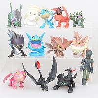 Набор коллекционных фигурок Dragons Как приручить дракона (13 штук)
