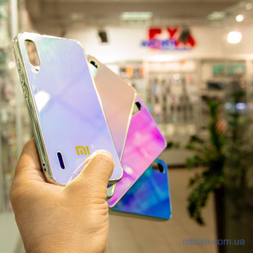 Чохол TPU Gradient Rainbow з лого Xiaomi Mi A3 / CC9e блакитний
