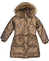 Детское пальто для девочки Верхняя одежда для девочек RIZZIBOY Италия 1337/40 Коричневый