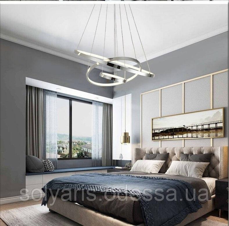 LED люстра с диммером, 150W 7990/3 (80см)хром