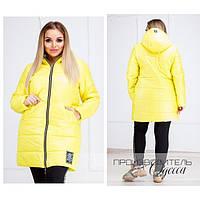 Куртка деми женская Жёлтая 1158 р 44-52