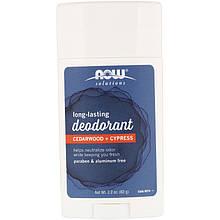 """Дезодорант-карандаш NOW Foods """"Long-Lasting Deodorant"""" длительного действия, аромат Кедр + Кипарис (62 г)"""