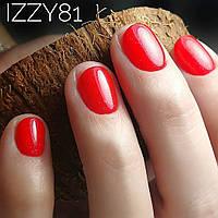 Цвет красный с микроблеском №0081 Гель-Лак IZZY Color Polish,12 мл.