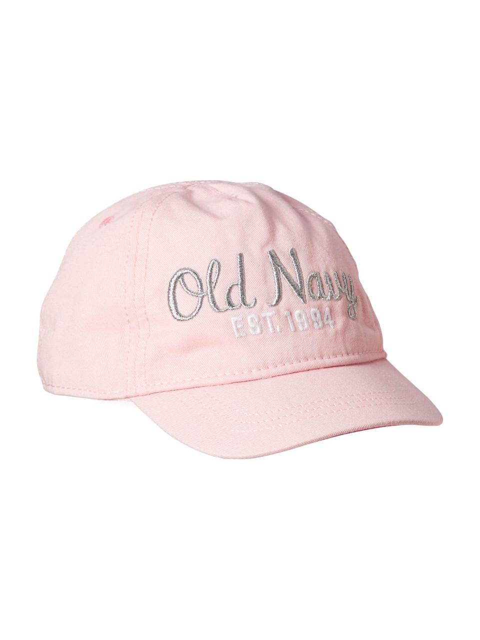 Розовая детская кепка (бейсболка) Олд Неви для девочки
