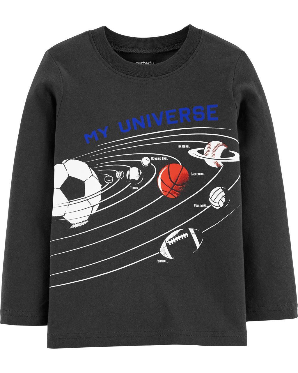 Детская футболка с длинным рукавом Картерс для мальчика