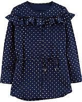 Синяя туника в горошек ОшКош для девочки