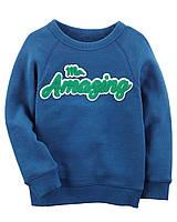 Детский синий трикотажный реглан Картерс для мальчика