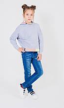 Демисезонные детские джинсы для девочки SILVIAN HEACH Италия MDJI6078J Синий