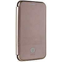 Чехол-книжка iMAX Leather Samsung J4 Plus 2018 (J415) Розово-золотая