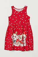 Красное платье в горошек HМ для девочки, фото 1