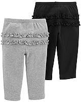 Набір дитячих трикотажних штанців з рюшами на попі Картерс для дівчинки