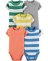 Набор детских боди-футболок 5 шт Картерс для мальчика
