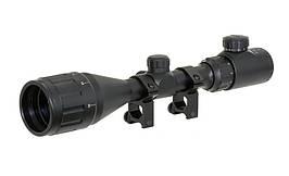 Celownik optyczny 3-9X50AOEG - Black [PCS] (для страйкбола)