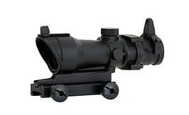 Kompaktowa luneta karabinowa 4x32 - Black [Aim-O] (для страйкбола)