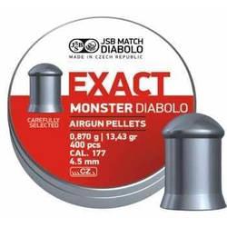 Пули для пневматики JSB Diabolo Exact Monster 0.87 гр 4.52 мм (400 шт)