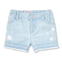 Светлые джинсовые шорты с потертостями Чилдрен Плейс для девочки
