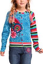 Детский кардиган для девочки Desigual Испания 47J3226 Голубой 104 см 140