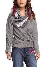 Детский пуловер для девочки Desigual Испания 48S3153 серый 116