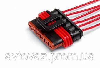 Разъем жгута ЭСУД ГАЗ 6 контактный с проводами гнездовой