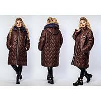 Куртка зимняя женская большие размеры Зиг-заг 807 р 50-60