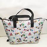 Универсальные женские сумки оптом (яркий принт)32*50см, фото 3