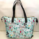Универсальные женские сумки оптом (яркий принт)32*50см, фото 7