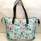 Универсальные женские сумки оптом (яркий принт)32*50см, фото 8