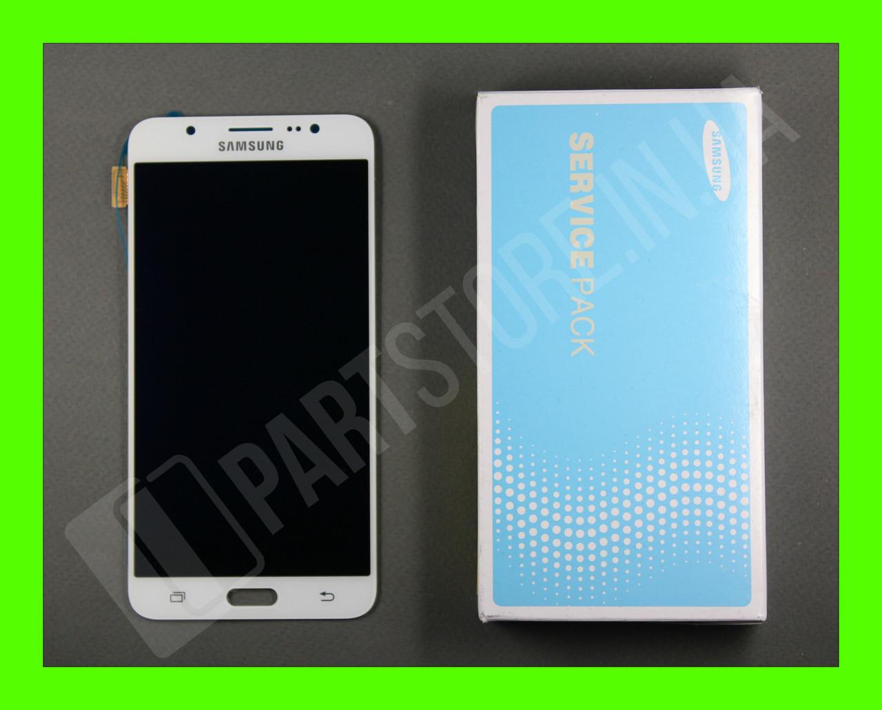 Дисплей Samsung j710 White j7 2016 (GH97-18855C) сервисный оригинал