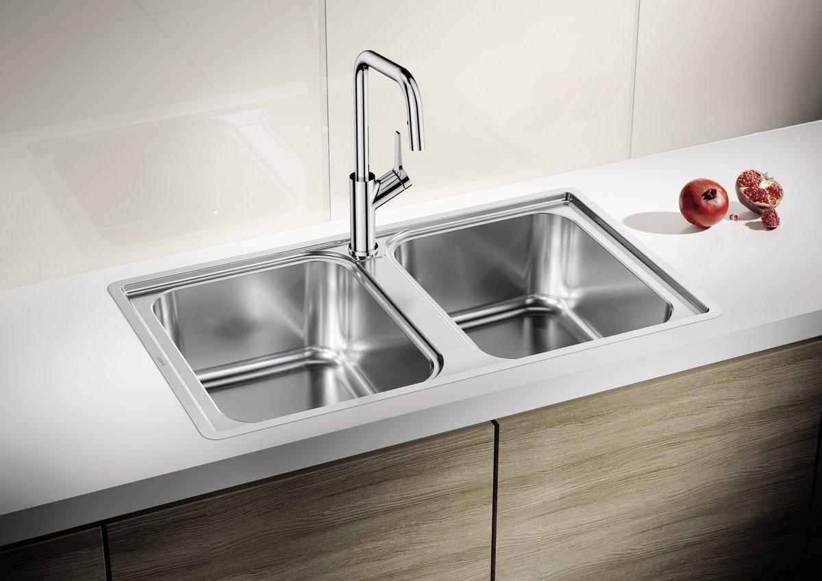 Мойка кухонная из нержавеющей стали Blanco Lemis 8-IF stainless steel