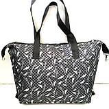 Универсальные женские сумки оптом (серый принт)32*50см, фото 2