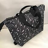 Универсальные женские сумки оптом (серый принт)32*50см, фото 5
