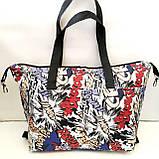 Универсальные женские сумки оптом (серый принт)32*50см, фото 8