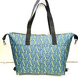Универсальные женские сумки оптом (серый принт)32*50см, фото 9