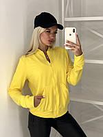Батник женский хаки пудра желтый серый, фото 1