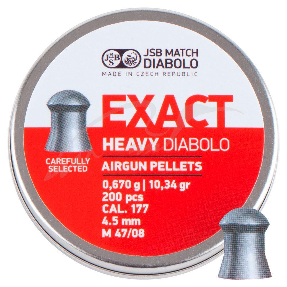 Пули для пневматики JSB Diabolo Exact Heavy 0.67 гр (200 шт) 4.52 мм