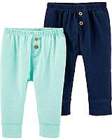 Детские однотонные штанишки 2 шт Картерс для мальчика
