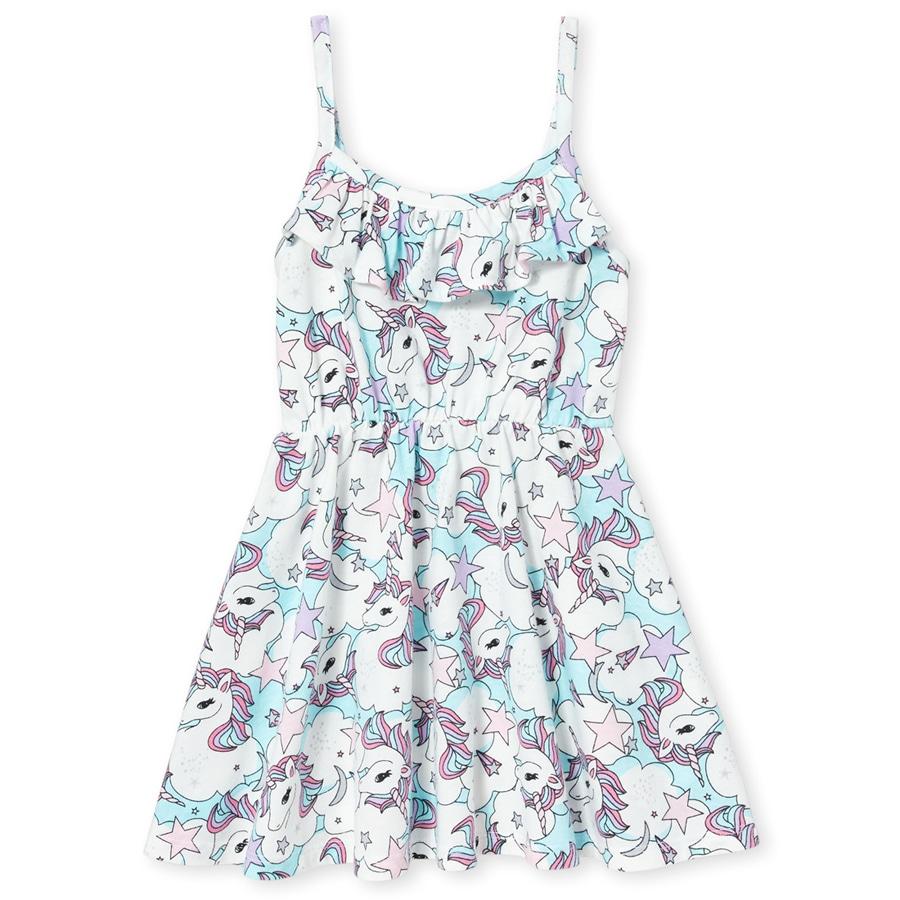 Милое платье с красивой рюшей Единороги Сhildren's Place для девочки