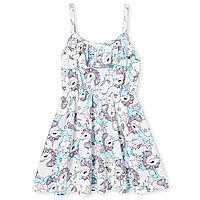 Милое платье с красивой рюшей Единороги Сhildren's Place для девочки, фото 1