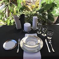 Посуда Capital For People пластиковая многоразовая плотная для праздника. Полная сервировка стола 96 шт 6 чел