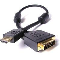 Кабель шт.HDMI -шт.DVI(24+1),  3.0 M, OD5.5, 30AWG,