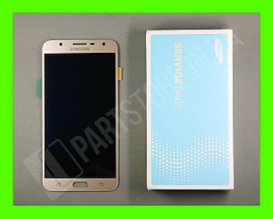 Дисплей Samsung j701 Gold j7 neo 2018 (GH97-20904B) сервисный оригинал, фото 2