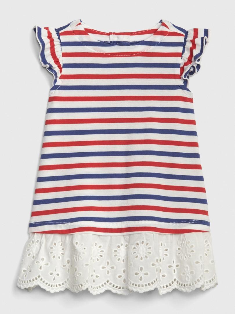 Летние платье в полоску и с кружевом GAP для девочки