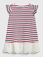 Летние платье в полоску и с кружевом GAP для девочки, фото 1